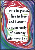 I walk in peace poster by Michele Whittington
