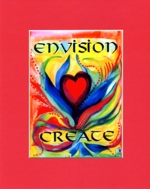Envision Create - 8x10 matted quote