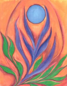 Joy of Being - watercolor by Raphaella Vaisseau