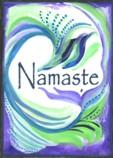 New Namaste magnet (single word)