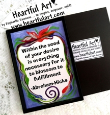 Abraham-Hicks quote on a magnet