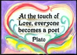 love thoughts by Plato on a magnet by Raphaella Vaisseau