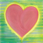 Heart of Green Chartreuse - 8x8 original art by Raphaella Vaisseau