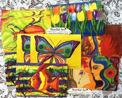 Art postcards by Raphaella Vaisseau - heartfulart.com
