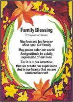 Family Blessing - 5x7 poster