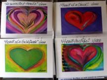 2x3 Mini Giclees of 4 hearts