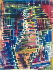 16x20 original art - Abstract in Mahogany