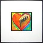2x2 original watercolor - Heart of Rising