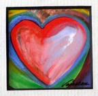 5x5 Framed heart print