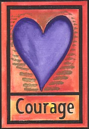 Courage magnet - $5