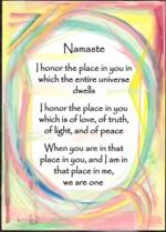 5x7 Namaste - abstract pastel