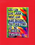 Girls can  ... 8x10 matted quote