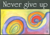 Never give up magnet - $5