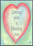 Loving you is blessing me magnet