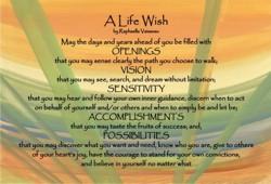 A Life Wish postcards - words & art by Raphaella Vaisseau