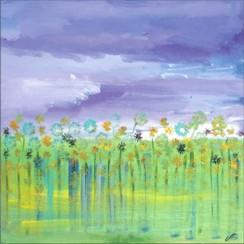 20x20Lavender Clouds Garden by Raphaella Vaisseau