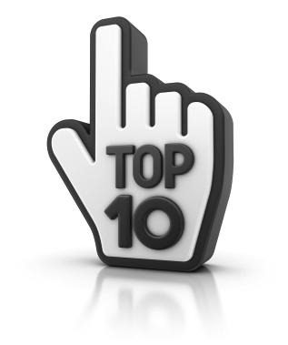 Top Ten like finger