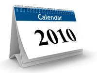 2010 calendar blue