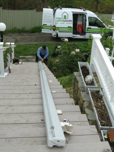 Jamestown Perch Chair Lift Install