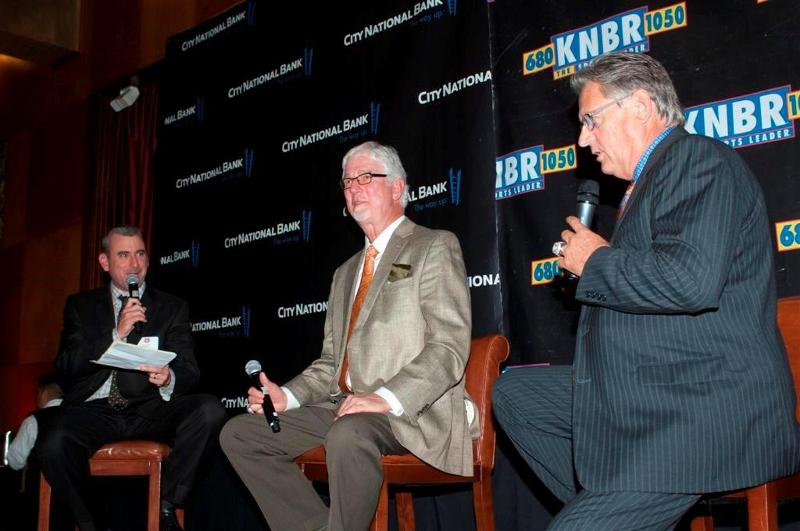 Brian Murphy with Giants Broadcasters Mike Krukow and Duane Kuiper,