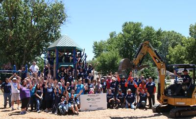 Volunteers at Memorial Park West Sacramento