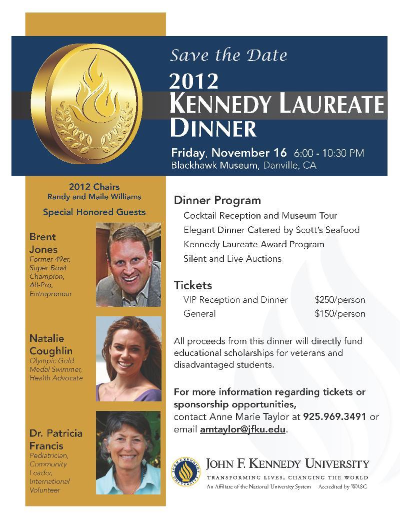 2012 Kennedy Laureate Flyer