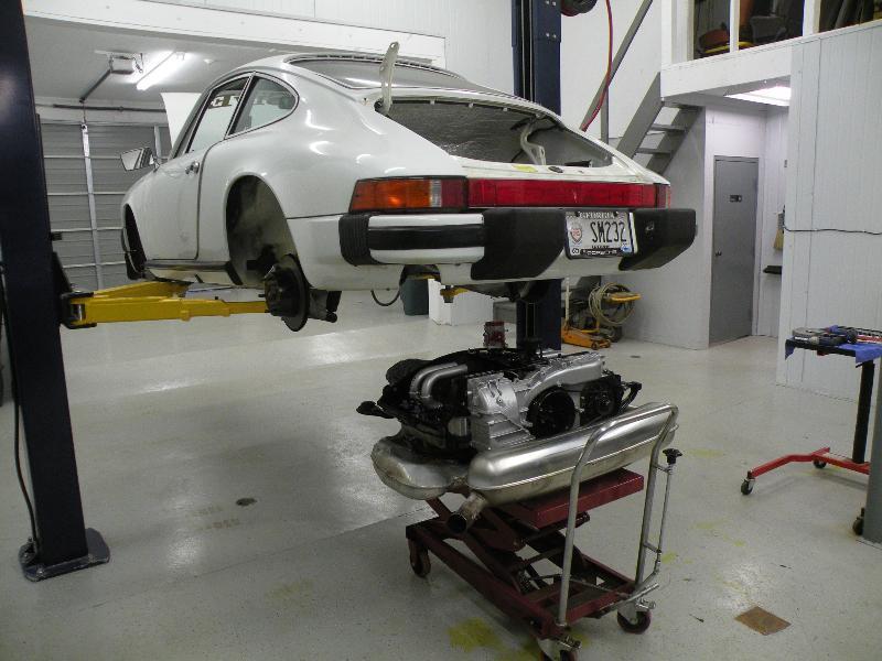 912E engine install