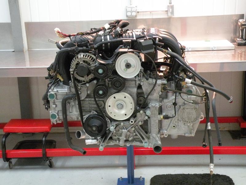 Flat 6 Engine in assembly