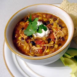 Slow Cookin' Chicken Tortilla Soup