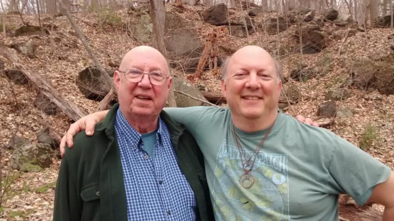 Me and Dad in the woods