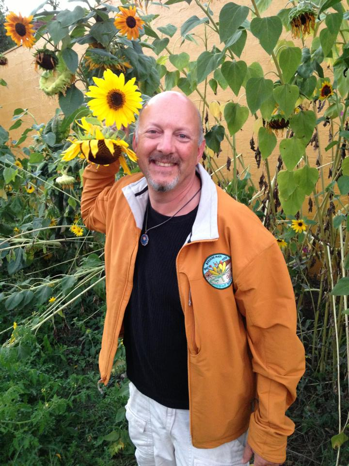 Albert and Sunflowers 2013