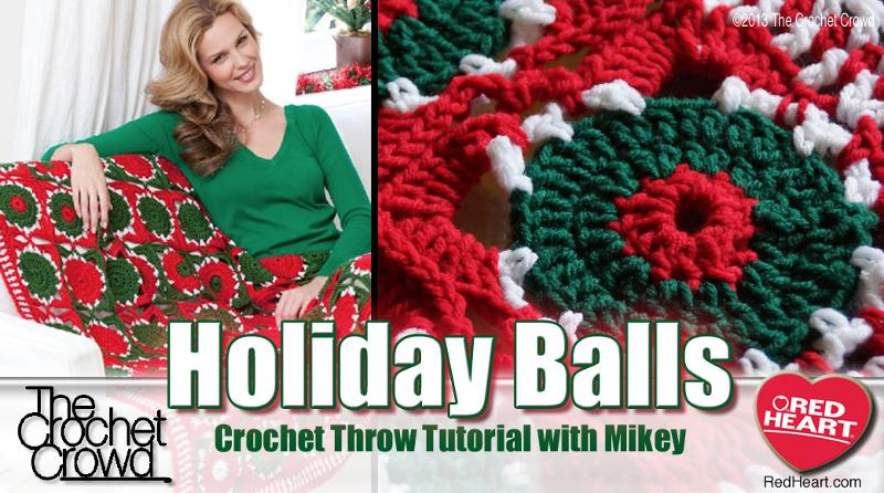 Holiday Balls Crochet Afghan