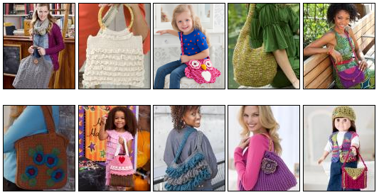 Crochet Hand Bag Patterns for Adults, Kids and Dolls