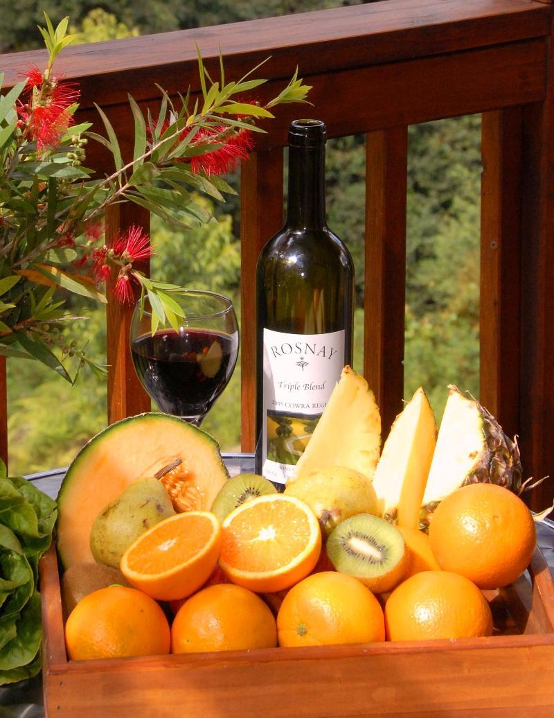 Organic fruits & wine