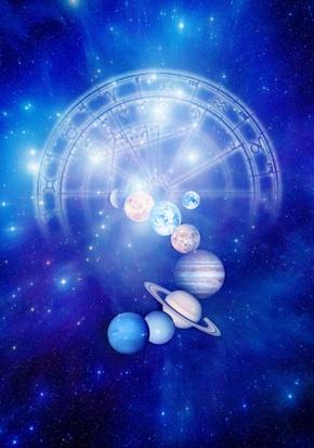 Kosmos mit Planeten