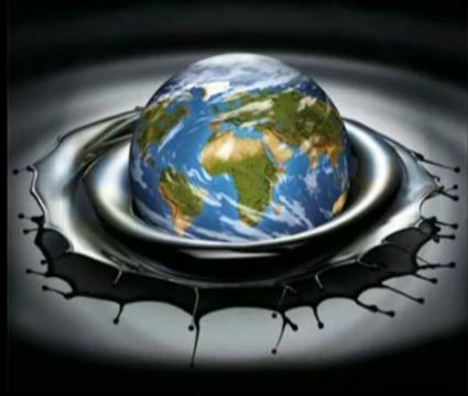 Erde in Oel