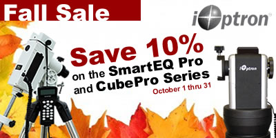 iOptron October Sales Event