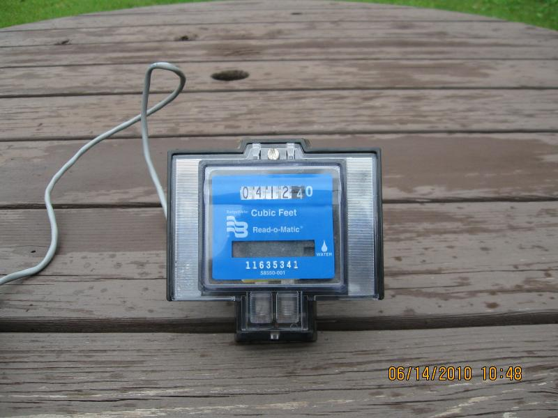 outdoor water meter