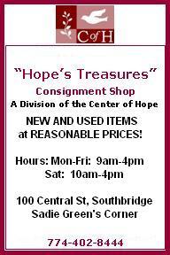 Hope Treasures Ad