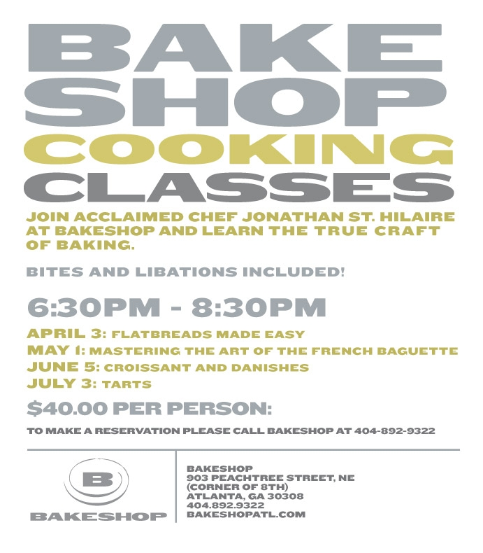 Join Acclaimed Jonathan St. Hilaire for Bakeshop Cooking Classes!