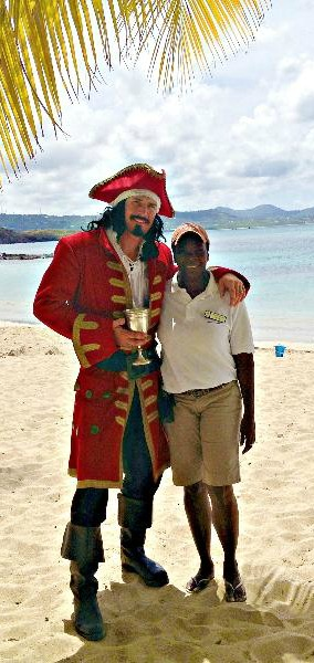Captain Morgan on The Buccaneer beach