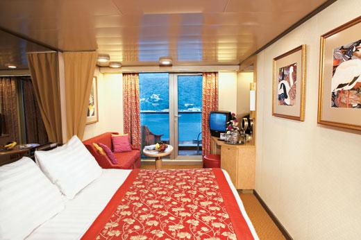 Oosterdam balcony cabin for Alaska cruise balcony room
