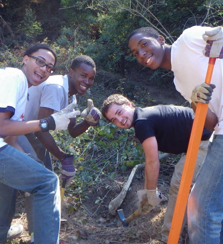 EarthTeam students at Fern Ravine