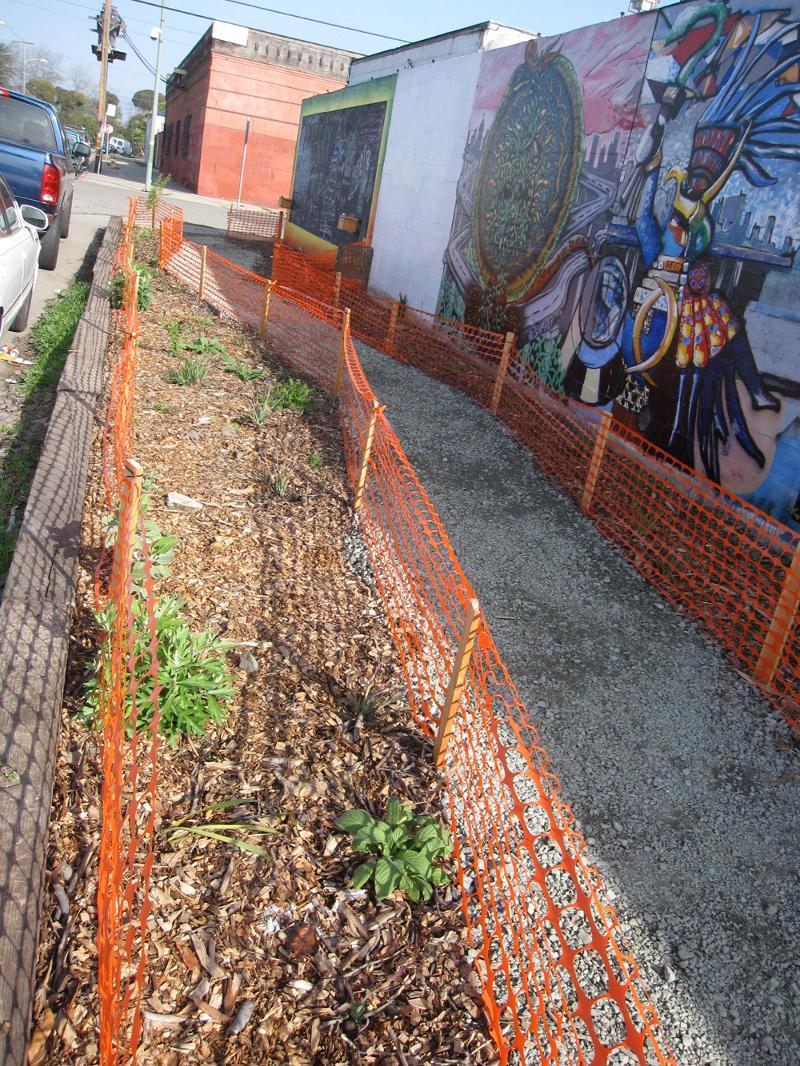 Jingletown Art Wall and Garden Project