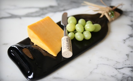 Wine Bottle Cheese Tray