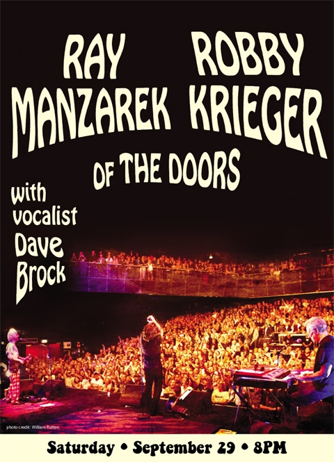Ray Manzarek and Robby Krieger of The Doors performs live at the Union County PAC on Saturday, September 29.