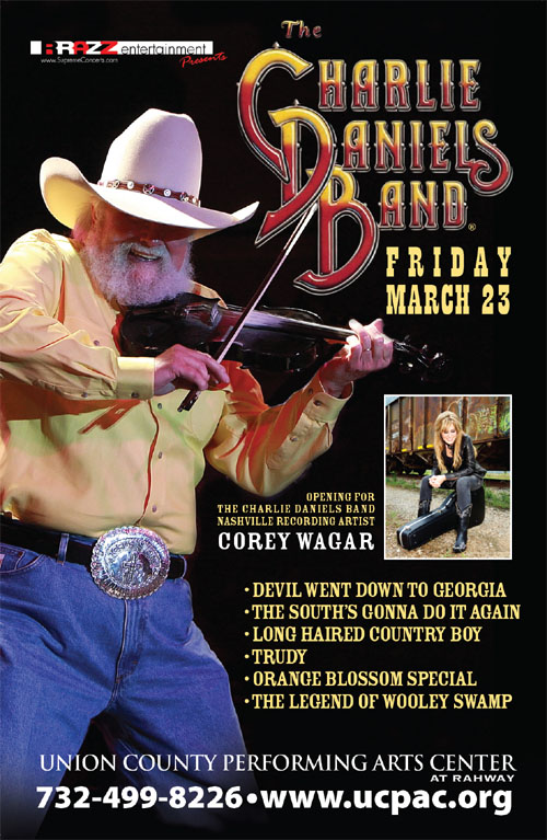 The Charlie Daniels Band live at the UC PAC tomorrow night 3/23.