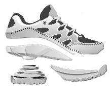 Z-CoiL shoe components