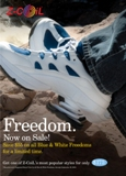 Save $55 on All Blue/White Freedoms
