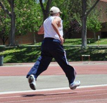 Al Gallegos competing in the NM Senior Games